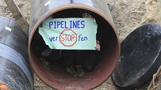 Protest gegen Nord Stream 2