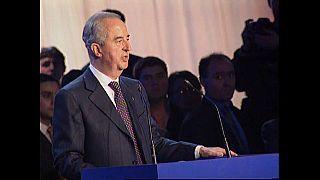 Edouard Balladur lors de sa campagne en 1995