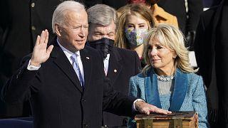 Joe Biden prêtant serment comme 46e président des Etats-Unis, à Washington, le 20 janvier 2021