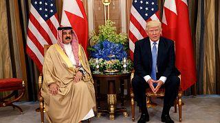 الرئيس الأمريكي دونالد ترامب وملك البحرين حمد بن عيسى آل خليفة في الرياض بالمملكة العربية السعودية