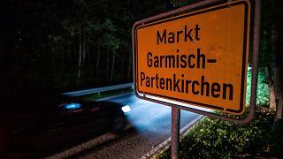 Garmisch-Partenkirchen helységnévtáblája 2020. szeptember 13-án