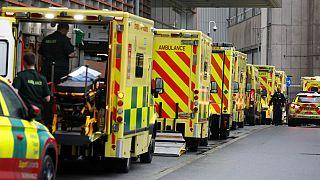 Ασθενοφόρα έξω από νοσοκομείο του Λονδίνου