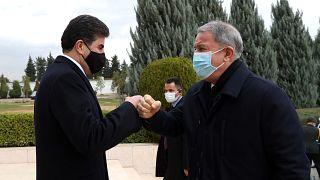 Milli Savunma Bakanı Akar, Erbil'de IKBY Başkanı Neçirvan Barzani ile görüştü