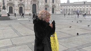 Fumadora em Milão