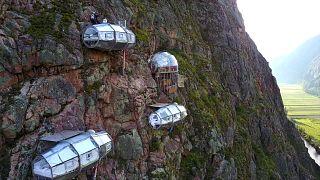 El vertiginoso hotel Skylodge, a las puertas de Machu Picchu