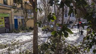 Madrid has been fighting to clear wpiles of garbage and thousands of broken trees from the streets following Storm Filomena.
