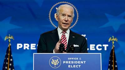 The new US President, Joe Biden.
