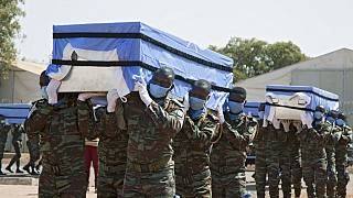 Tribute Ceremony for Slain Ivorian UN Peacekeepers in Mali