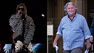 Rapçi Lil Wayne ve siyasi danışman Steve Bannon