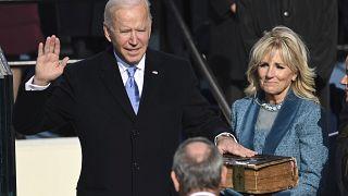 Der neue US-Präsident Joe Biden mit First Lady Jill Biden.