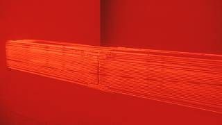 Stephen Antonakos _Red Neon From  Wall to Wall_ 1968