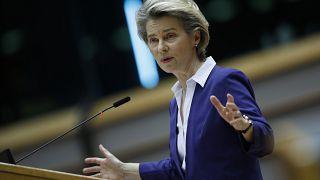 Ursula von der Leyen, presidenta de la Comisiàon Europea