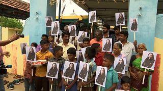 ویدئویی از جشن کوچکی برای کامالا هریس در هند