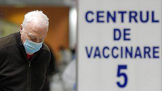 Centre de vaccination, Bucarest, Roumanie, janvier 2021.