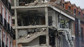 Edificio del número 98 en la calle Puerta de Toledo tras la explosión
