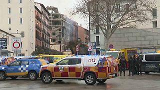 Robbanás Madridban: egy épület összeomlott