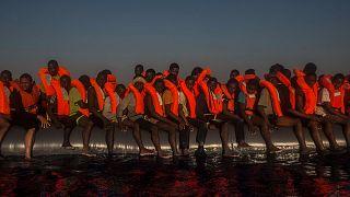 عکس آرشیوی از پناهجویان آفریقایی