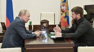 Çeçenistan lideri Kadirov ve Rusya Başkanı Putin