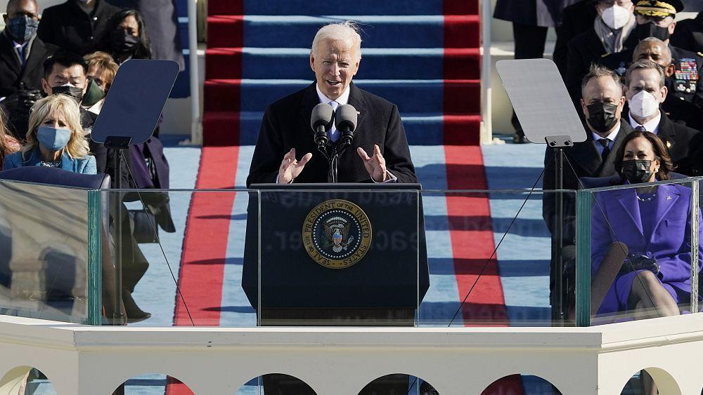 'Celebramos el triunfo de la democracia' dice Joe Biden en su toma de posesión