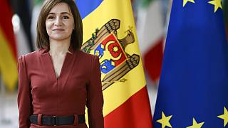 Maia Sandu moldovai elnök brüsszeli látogatásán, 2021. január 18.
