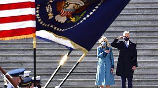 Jill und Joe Biden bei der Amtseinführung des neuen US-Präsidenten
