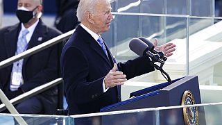 Joe Biden a beiktatási beszéd alatt