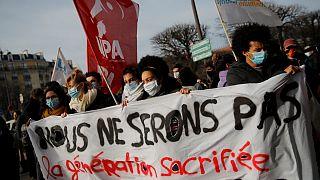 Estudantes mobilizaram-se em protesto por diversas cidades franceses