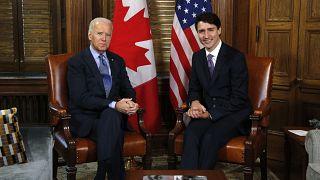 FILE PHOTO: Prime Minister Justin Trudeau and Joe Biden
