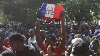 Manifestation à Bamako contre la présence française
