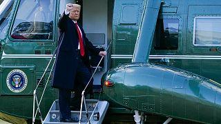 ترامب أثناء مغادرته البيت الأبيض