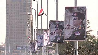 Портреты египетского президента в центре Каира