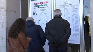 Colas para votar de forma anticipada en Portugal
