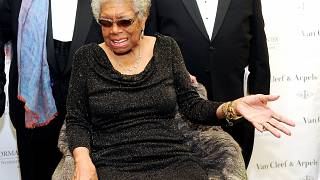 FILE: Lifetime Achievement Award recipient Dr. Maya Angelou in the 5th annual Norman Mailer Center benefit gala at The New York Public Library, Oct. 17, 2013