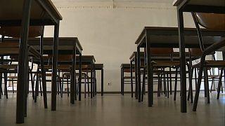 Un aula vacía en Portugal