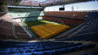FILE:  A view of the San Siro stadium in Milan, Italy, Wednesday, Feb. 10, 2016.