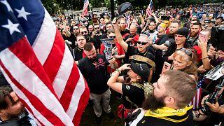 Proud Boys üyelerinden Trump's destek gösterisi / Arşiv / 2019