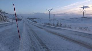 """Vereiste Straßen in Nordland nach Sturm """"Frank"""""""