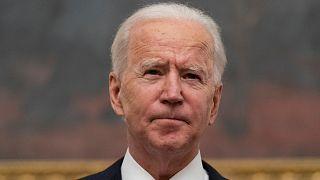 President Joe Biden speaks about the coronavirus in the State Dinning Room of the White House, Thursday, Jan. 21, 2021, in Washington.