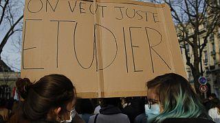 Manifestation étudiante à Paris, 20 janvier 2021