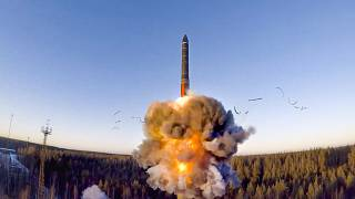 A rocket launch during military drills in Russia - a nuclear armed nation that has not signed up to the international ban on nuclear weapons