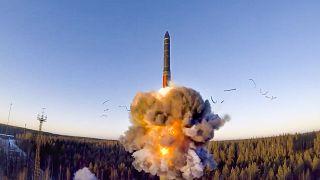 Военные учения на космодроме под Плесецком в декабре 2020 года