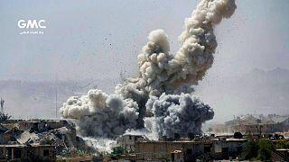 عکس تزيینی از حمله به منطقهای در جوبر
