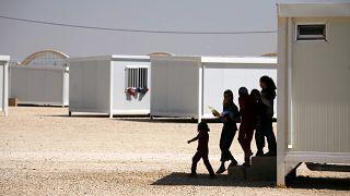صورة من الارشيف - مخيم حدائق الملك عبد الله للاجئين في الرمثا، الأردن