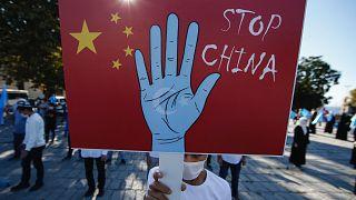 Türkiye'de Çin'in Doğu Türkistan politikasına karşı eylem / Arşiv