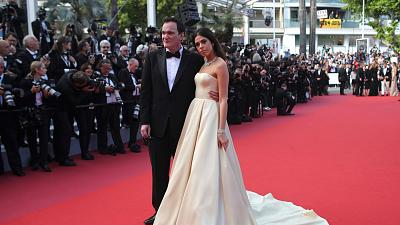 Quentin Tarantino and his wife at the Cannes Film Festival