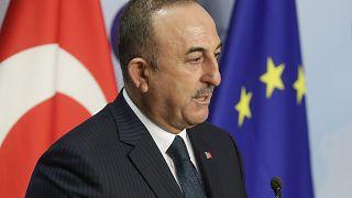 Ο υπουργός Εξωτερικών της Τουρκίας Μεβλούτ Τσαβούσογλου στις Βρυξέλλες