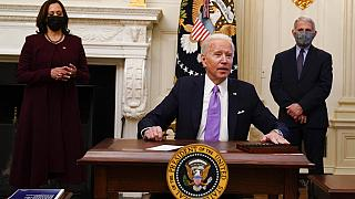 US President Joe Biden signs executive orders to kick-start economic recovery