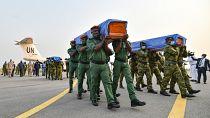 Bodies of Ivorian peacekeepers killed in Mali return home