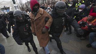Задержания в ходе акций в поддержку Алексея Навального в Москве