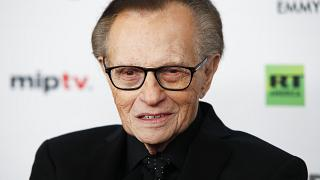 FILE - In this Nov. 20, 2017, file photo, Larry King attends the 45th International Emmy Awards at the New York Hilton, in New York.
